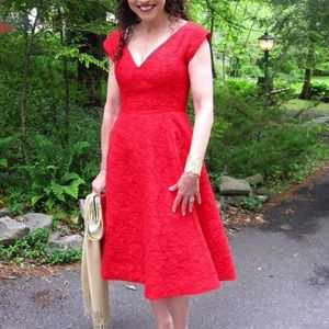 Kate Spade red lace dress size 0